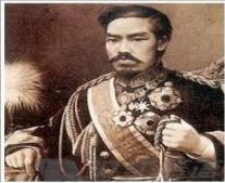 تولي الإمبراطور ميجي حكم اليابان