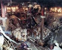إنفجار شديد في مركز التجارة العالمي