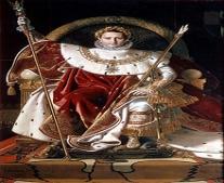 نابليون بونابرت (Napoléon Bonaparte) إمبراطورًا على فرنسا