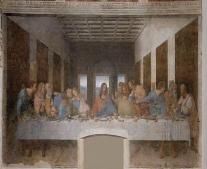 إعادة عرض لوحة الرسام ليوناردو دا فينشي «العشاء الأخير»