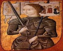 """إعدام جان دارك (Jeanne d""""Arc) حرقاً بعد محاكمتها بتهمة السحر"""