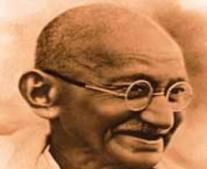 ولد فيلسوف الحرية والسلام غاندي Mohandas Gandhi