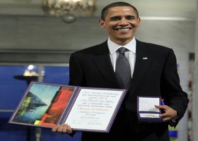 منح باراك أوباما جائزة نوبل للسلام
