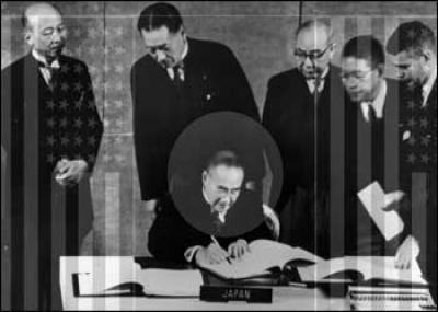نهاية الاحتلال الأمريكي لليابان بتوقيع معاهدة السلام مع اليابان في سان فرانسيسكو.