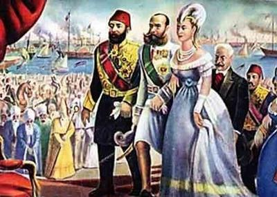 إفتتاح قناة السويس وسط إحتفالية إسطورية حضرها العديد من ملوك وأمراء وأباطرة العالم