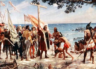 نزول كريستوفر كولومبوس على جزيرة بورتوريكو لأول مرة
