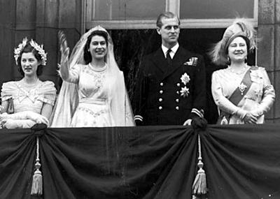 زفاف الأمير فيليب Philip Mountbatten دوق أدنبره على الملكة إليزابيث الثانية Elizabeth II