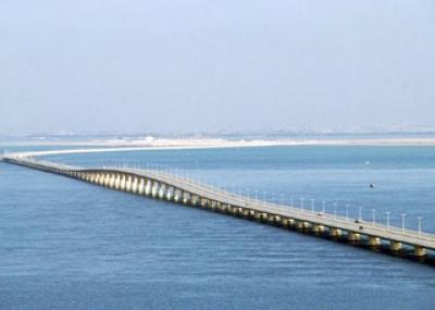 افتتاح جسر الملك فهد