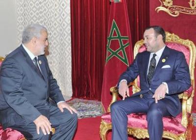 العاهل المغربي محمد السادس يكلف زعيم حزب العدالة والتنمية عبد الإله ابن كيران بتشكيل الحكومة الجديدة