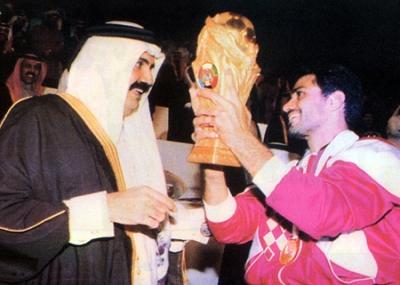 المنتخب القطري لكرة القدم يحقق لقب كأس الخليج العربي عام 1992