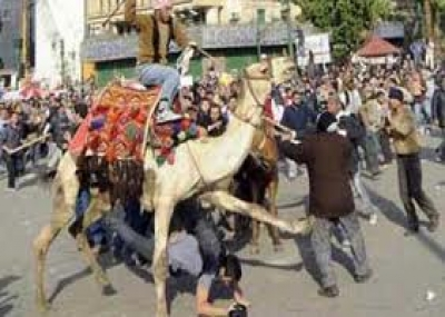 حدوث موقعة الجمل في ميدان التحرير
