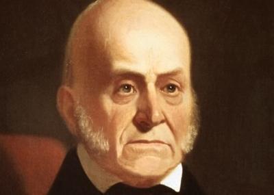 توفي رئيس الولايات المتحدة جون كوينسي آدامز John Quincy Adams