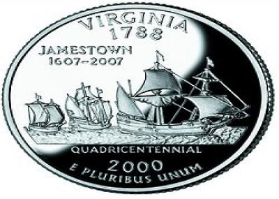 تأسيس أول مستعمرة بريطانية ناجحة في أمريكا الشمالية (Jamestown Virginia)