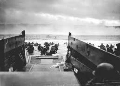 إنزال قوات الحلفاء على شواطئ نورماندى الفرنسية