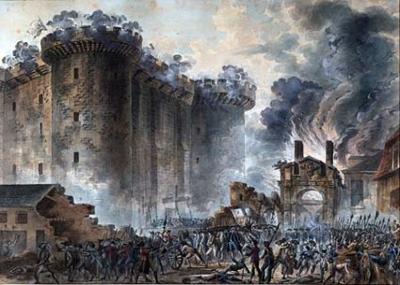 """سقوط سجن الباستيل """"La Bastille"""""""