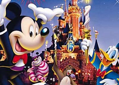 افتتاح مدينة ملاهي ديزني لاند Disneyland
