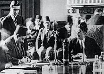 توقيع المعاهدة البريطانية المصرية لعام 1936