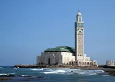 الأنتهاء من بناء مسجد الحسن الثاني بمدينة الدار البيضاء