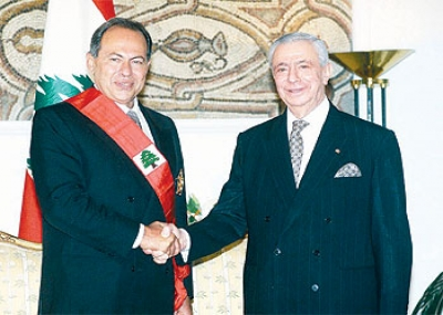 ولد رئيس الجمهورية اللبنانية إلياس الهراوي