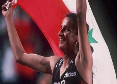 ولدت البطلة غادة شعاع لاعبة ألعاب القوى السورية