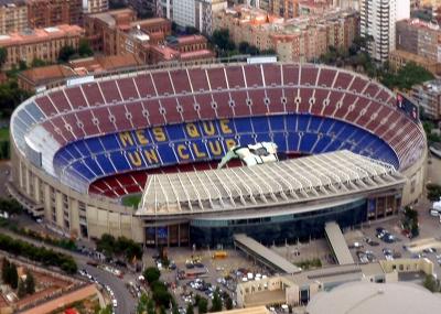 إفتتاح ملعب كامب نو Camp Nou في برشلونة